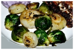Brown Butter Brussels Sprouts with Cipollini Onions