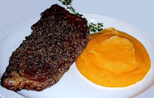Rib Eye with Butternut Squash