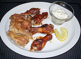 Hot Wings Plate