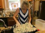 Lea Prepping Chicken Salad