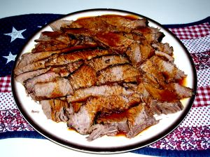 Sliced Brisket on Platter