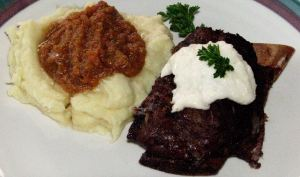 Succulent Short Ribs with Horseradish Sauce
