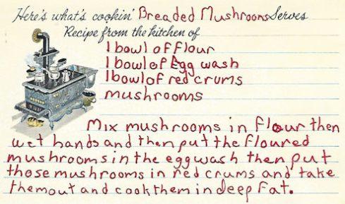 Breaded Mushroom Recipe
