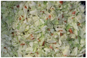Cole slaw close up