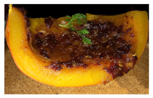 Roasted Pumpkin with Maple Chipotle Glaze