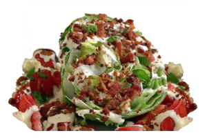 Wedge salad all dressed up