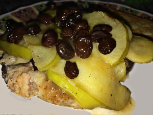 Apple Raisin Pork Chop