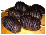 purple-fingerling-Hasselback-potato-bites