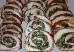 Spinach and Sausage Pork Roulade