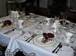 Walton House B&B Christmas Table Setting