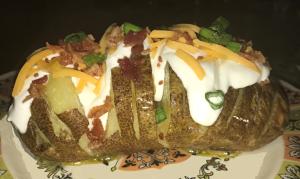 Hasselback Russet Potato